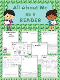 """A terrific way to launch reader's workshop, this 8 page """"All About Me as a Reader"""" booklet prompts students to answer the 5 W's about themselves as readers and write about their favorite books. Students benefit from thinking deeply about what makes reading so wonderful and teachers benefit from learning about their"""