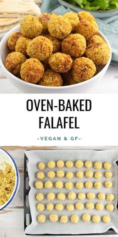 Huge Batch of Oven-Baked Falafel - freezer-friendly! Huge Batch of Oven-Baked Falafel – freezer-friendly! Gourmet Recipes, Whole Food Recipes, Vegan Recipes, Cooking Recipes, Free Recipes, Vegan Sweet Potato Recipes, Zoodle Recipes, Baby Recipes, Vegan Ideas