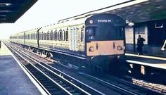 Broad Street bound train on the North London Line 1960s (now part of Overground network)