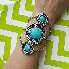 $24 Turquoise Zipper Bracelet by DVAccessories on Etsy