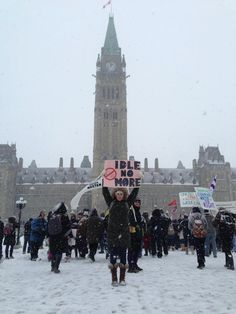 Idle No More supporters demonstrate on Parliament Hill (rabble.ca) Photo: Jamie Spence