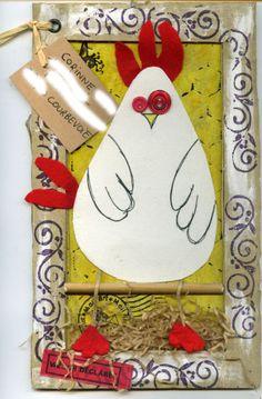 Un jour une petite poule est née dans mes mails arts.......je l'ai appelé