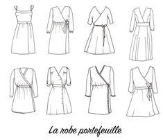 Retrouvez sur le blog la liste de patrons pour coudre une robe portefeuille