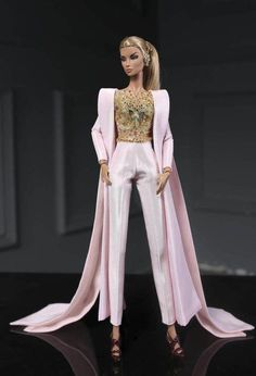 Pink jumpsuit fit fashion royalty nu face poppy parker barbie silkstone lovestones 12 fashion doll same size you receive pink jumpsuit earing doll and other accessories are not included thank you for watching rimdoll Barbie Style, Barbie Model, Fashion Dolls, Fashion Royalty Dolls, Fashion Outfits, Barbie Gowns, Barbie Dress, Barbie Clothes, Manequin