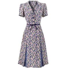 """Cath Kidston Frida Floral Dress £95. Very pretty, in a """"Land Girls"""" sort of way."""