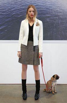 Halogen Jacket, Tweed Skirt and Tank #Nordstrom