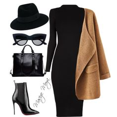 A fashion look from June 2016 featuring Christian Louboutin ankle booties und Maison Michel hats. Browse and shop related looks. Mode Chic, Mode Style, Work Fashion, Fashion Outfits, Womens Fashion, Church Fashion, Classy Outfits, Stylish Outfits, Funeral Attire
