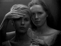 Ingmar Bergman in Persona Bergman Movies, Bergman Film, Persona Ingmar Bergman, Persona 1966, Cute Lesbian Couples, Film Inspiration, Star Wars, Film Aesthetic, Music Film