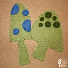 Wee Folk Art Mushrooms Applique Block | Wee Folk Art