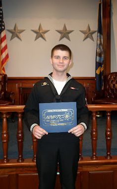 my sweet sailor son at his US Navy Nuclear Field A School graduation ♥