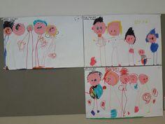 Cirkel knippen en mijn gezin tekenen. juf Monica