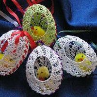 háčkované velkonočné vajíčka - Hľadať Googlom