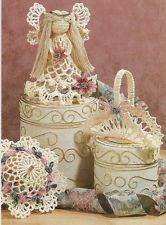 Crochet Pattern ~ VICTORIAN CHRISTMAS ORNAMENTS ~ Angel, Basket ...