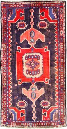 Navy Blue 4' 2 x 8' 0 Hamedan Rug | Persian Rugs | eSaleRugs