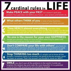 Love all of these rules to live by.