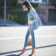 On Saturdays we wear...denim @9to5chic #7FAMDenim