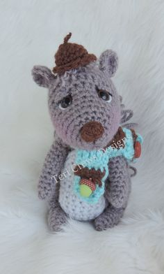 Cute Squirrel Crochet Pattern by Teri Crews by TCrewsDesigns