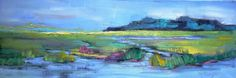 Marsh Landscape Original Oil Painting Daily by CarolSchiffStudio, $229.95
