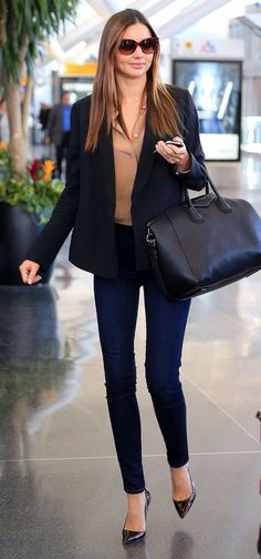 Classy and structured yet comfortable.