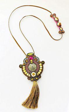 Soutache Pendant, Soutache Earrings, Drop Earrings, Tassel Necklace, Pendant Necklace, Handmade Jewelry, Brooch, Jewellery, Embroidery