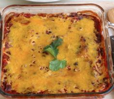 Southwestern Black Bean #Casserole minus the cheese and oil for me!