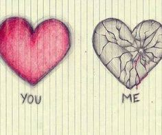 I want you to draw the broken heart but only the broken one and much larger for my birthday. Sad Drawings, Pencil Drawings, Sketch Art, Drawing Sketches, Sad Sketches, Sketching, Broken Heart Drawings, Broken Heart Art, Cool Heart Drawings