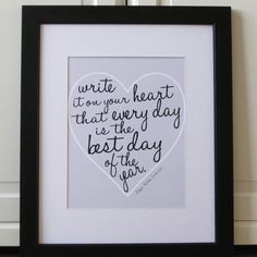 write. it. on. your. heart.
