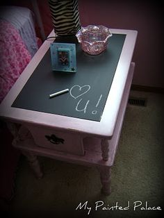 chalkboard table  need to do this to a table I have!