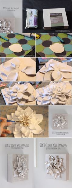 DIY 3D Flower Wall Hanging 1 package of air dry clay 1 basswood canvas (in the fine art painting section) More info and instructions about this great tutorial you can find in the source url - above the photo. diycraftstips.org is a collection of the best and most creative do it yourself projects, tips and […]