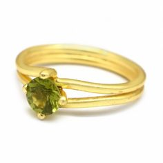 Gold Plated Peridot Gemstone Handmade Ring Latest Ring Designs, Handmade Rings, Peridot, Plating, Fashion Jewelry, Gemstones, Bracelets, Gold, Trendy Fashion Jewelry