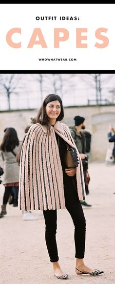 Super stylish cape outfit ideas to try out this fall