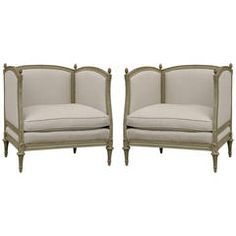 Pair of Large French Chairs
