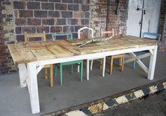 shabby chic dinner table, handmade Esstisch, Shabby-Landhaus-Stil handmade 267 cm #3 - ein Designerstück von Zimmerliebe
