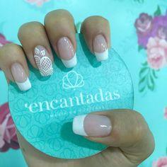 Francés New Nail Polish, Fall Nail Designs, French Nails, Nail Manicure, Nail Art, White Toenails, Nail Gel, Colors, Space Nails