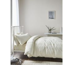 Buy Catherine Lansfield Minimalist Cream Bedding Set - Double at Argos.co.uk, visit Argos.co.uk to shop online for Duvet cover sets, Bedding, Home and garden