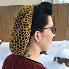 Gold Snood with Metalic Gold detail by LaceyRoseCreations on Etsy