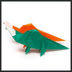 How to Fold an Origami Dinosaur | PaperCraftSquare.com