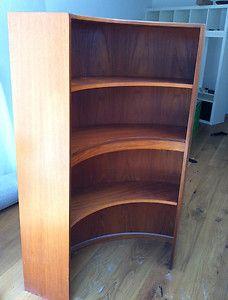 G Plan Fresco Corner Shelving Unit Curved Bookcase Bookshelf EGomme Teak Retro