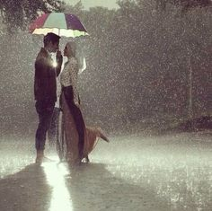 Muslim Couple Photography in Rain..