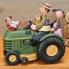 Children on Tractor Figurine by Williraye Studio $50.00