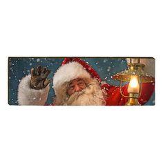 Santa with Lantern - Wood Sign - Medium