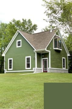 Sage Green House Siding Green Siding Cream Trim Black