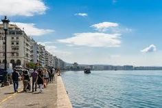 #Greece #Thessaloniki #sea #city Greece Thessaloniki, Byzantine Architecture, City By The Sea, Team Building Activities, Greek Islands, Cyprus, Hotels And Resorts, The Locals, Night Life