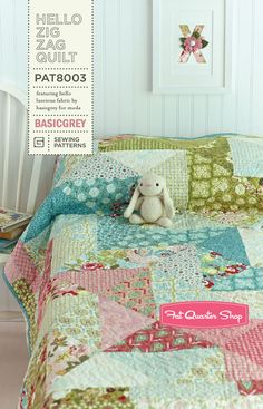 Hello Zig Zag Quilt Pattern BasicGrey Quilt Patterns - Fat Quarter Shop