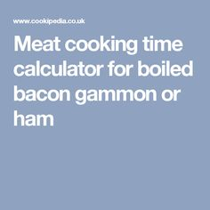 Best Bacon Or Ham Joint Recipe On Pinterest