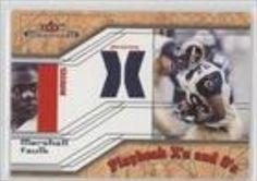 Brought to you by Avarsha.com: <div><div>2002 Fleer Maximum Playbook X's and O's Jersey X's #MAFA - Marshall Faulk</div><ul><li>Sport: Football</li><li>Great for any Marshall Faulk fan</li><li>This is a collectible trading card.</li></ul><div>Sport: Football</div></div>