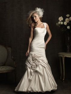 Allure Bridals fit n' flare gown. #weddings #dresses