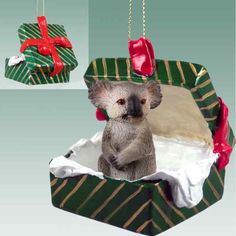 Koala Gift Box Christmas Ornament  DELIGHTFUL * Learn more by visiting the image link.