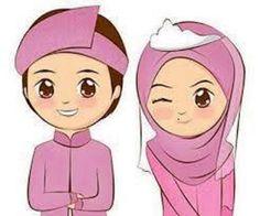 gambar kartun muslimah lucu pasangan Ideas for the House