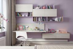 Cute Kids room on Behance Small Room Design Bedroom, Study Room Design, Teen Bedroom Designs, Cute Bedroom Ideas, Room Ideas Bedroom, Kids Room Design, Bedroom Decor, Girls Room Storage, Jugendschlafzimmer Designs